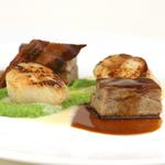 Scallops and braised belly of pork