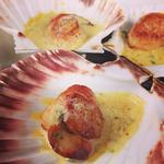 Scallops with soy butter