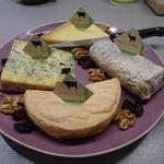 Plateau de fromages secs des quatre coins de la France