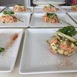 Tartare de saumon et pomme granny