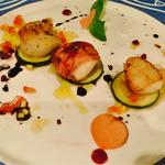 Fresh King Scallop Tris, Gratin, Parma Wrap, Pan Seared