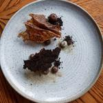 """Autumn Fall"" - Baked Milk Parfait, Chocolate Bark, Milk Leaf, Bread Fudge, Shiitake Power"