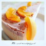 Gâteau cru à l'abricot et au fauxmage