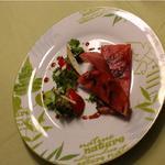 jambon vendéen et petit légumes de saison