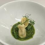 Goats Cheese Tortelli with Fresh Pesto Sauce