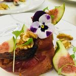 Compressed baked Parma ham salad