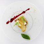 Tartare de poisson exotique, Croustillant à l'ail, Crémeux citron vert