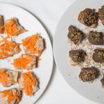 Crème de foie de volaille à la sauge & Crème de thon et flageolets