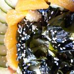 salade orange/concombre/algues