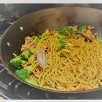 Stir-Fried Lo Mein With Beef and Broccoli