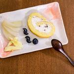 Gâteau roulé aux haricots rouges azuki