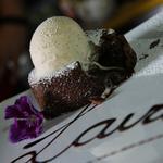 Lindt Chocolate Lava Cake: Served with homemade cinnamon & vanilla ice-cream
