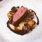 Fillet of Beef - Confit Garlic and Celeriac Puree - Mushroom Duxelle - Duchess Potatoes - Beef and Ale Jus