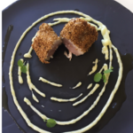 Thon blanc sésame, pomme de terre, wasabi
