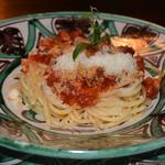 Spaghettis sauce Amatrice aux lardons