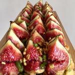 Tarte aux figues et crème amandine à la pistache
