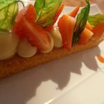 Sablé breton, fraises, basilic