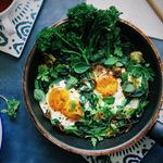 Spiced Green Shakshuka