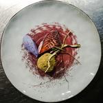 Canard basse température lentillons boule matcha