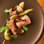 Veal Tongue Salad, Roasted Fennel, Salt Baked Onions, Thyme Vinaigrette