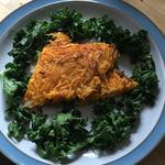 Sea bass filet with crispy sweet Potato and Kale