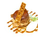Apple tart Tatin, hazelnut praline and Chantilly cream