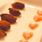 Whisky jelly and chocolate truffles