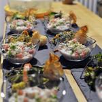 Salade du pacifique (poisson mariné au Combava, citron, lait de coco et crudités)