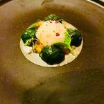 Ravioles végétale de Homard, Bisque au sumac et petits légumes croquants.