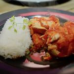 Poulet sauté basquaise et riz parfumé