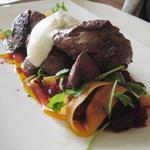 Slow Cooked Beef, Carrot Salad and Creme Fraiche