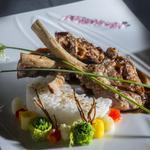 Rôtie de côtes d'agneaux, sauce bordelaise revisitée à la japonaise
