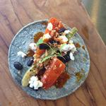 Carrot taco, fennel, black beans, goats cheese