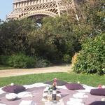 Pic-nique chic au pied de la Tour Eiffel
