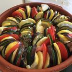 Tian de légumes d'été au citron et thym frais