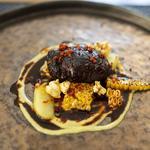 Rare Breed Pigs Cheek, Sweetcorn, Chorizo