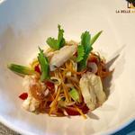 Salade de crabe et ses condiments