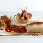 Cod Chorizo, squid