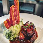 Lambs liver, colcannon, caramelized onion jus, crispy bacon