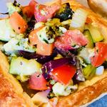 Sauteed Mediterranean Vegetable Filo Tartlet