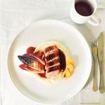 sous vide duck breast, parsnip & vanilla puree, grilled chicory, orange & red wine jus