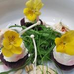 Goat cheese and wild beetroot micro salad