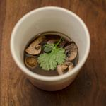 Bouillon dashi pickles de champignons