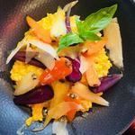 Risotto, safran, carottes glacée