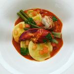 Lobster Ravioli with Lobster Bisque & Claw