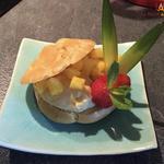 Chou à la crème coco, citron vert et ananas (sans gluten et sans lactose)