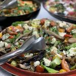 Heritage tomato, mozzarella, and basil salad