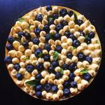 Cheesecake aux myrtilles et mangue