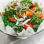 Salad in a colander