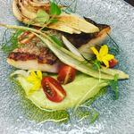 Cornish pollock~ Fennel elements~Canarra farm baby tomatoes